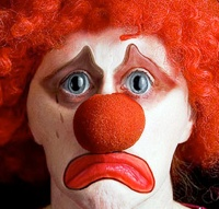 This clown is sad